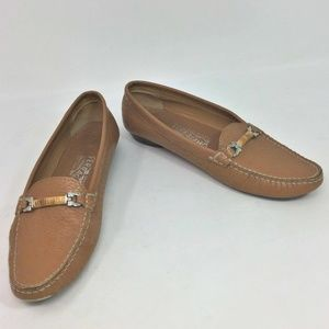 Salvatore Ferragamo Loafer Tan Leather Flats 6.5 B